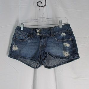 Charlotte Russe Distressed Jean Shorts Size 6